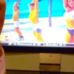 Working out with Mommy on TV