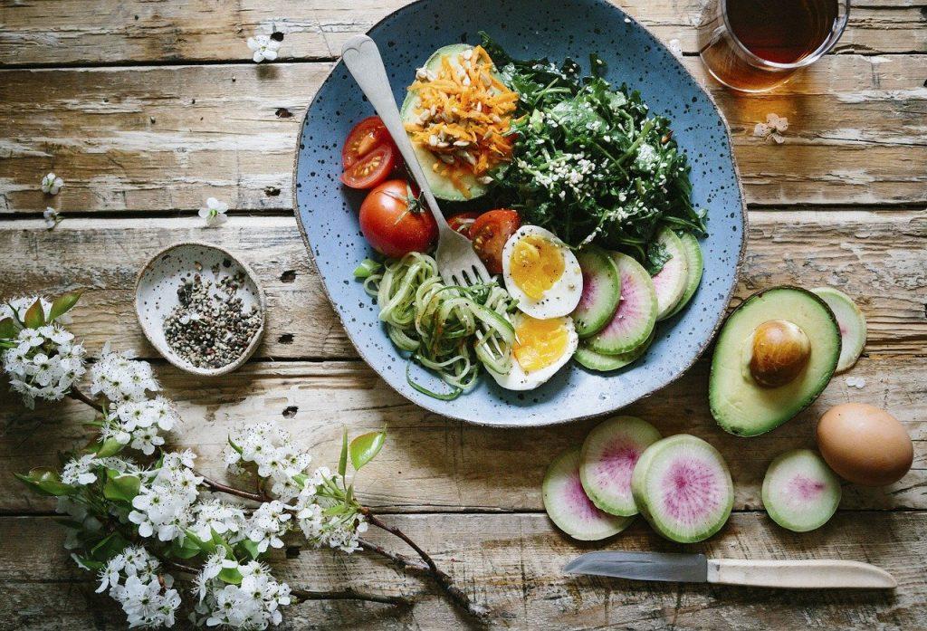 flat lay, food, salad