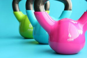 kettlebells, gym, exercise